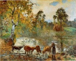 The Pond at Montfoucault 1875 | Camille Pissarro | oil painting