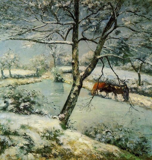 Winter at Montfoucault 1875 | Camille Pissarro | oil painting