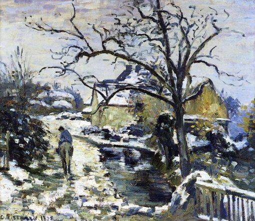 Winter at Montfoucault 2 1875   Camille Pissarro   oil painting