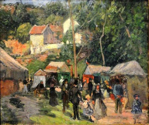 Festival at the Hermitage 1876 | Camille Pissarro | oil painting
