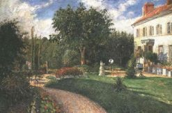 Garden of Les Mathurins 1876 | Camille Pissarro | oil painting
