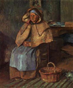 La Mere Gaspard 1876 | Camille Pissarro | oil painting