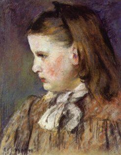 Portrait of Eugenie Estruc 1876 | Camille Pissarro | oil painting