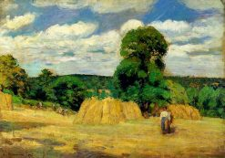 The Harvest at Montfoucault 1876 | Camille Pissarro | oil painting