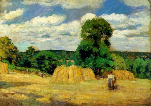 The Harvest at Montfoucault 1876 | Camille Pissarro | oil painting