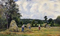 The Harvest at Montfoucault 2 1876 | Camille Pissarro | oil painting