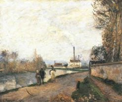 The Oise at Pontoise in Bad Weather 1876 | Camille Pissarro | oil painting