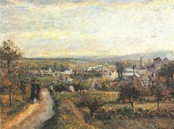 View of Saint Ouen L'Aumone 1876 | Camille Pissarro | oil painting