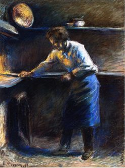 Eugene Murer at His Pastry Oven 1877 | Camille Pissarro | oil painting