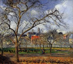 On Orchard in Pontoise in Winter 1877 | Camille Pissarro | oil painting