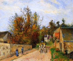 The diligence 1877 | Camille Pissarro | oil painting