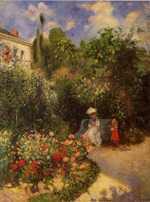 The Garden at Pontoise 1877 | Camille Pissarro | oil painting