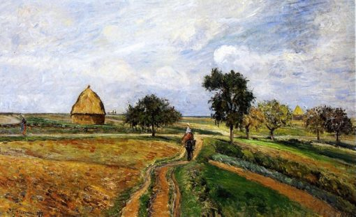 The Old Ennery Road in Pontoise 1877 | Camille Pissarro | oil painting