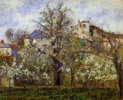 The Vegetable Garden with Trees in Blossom