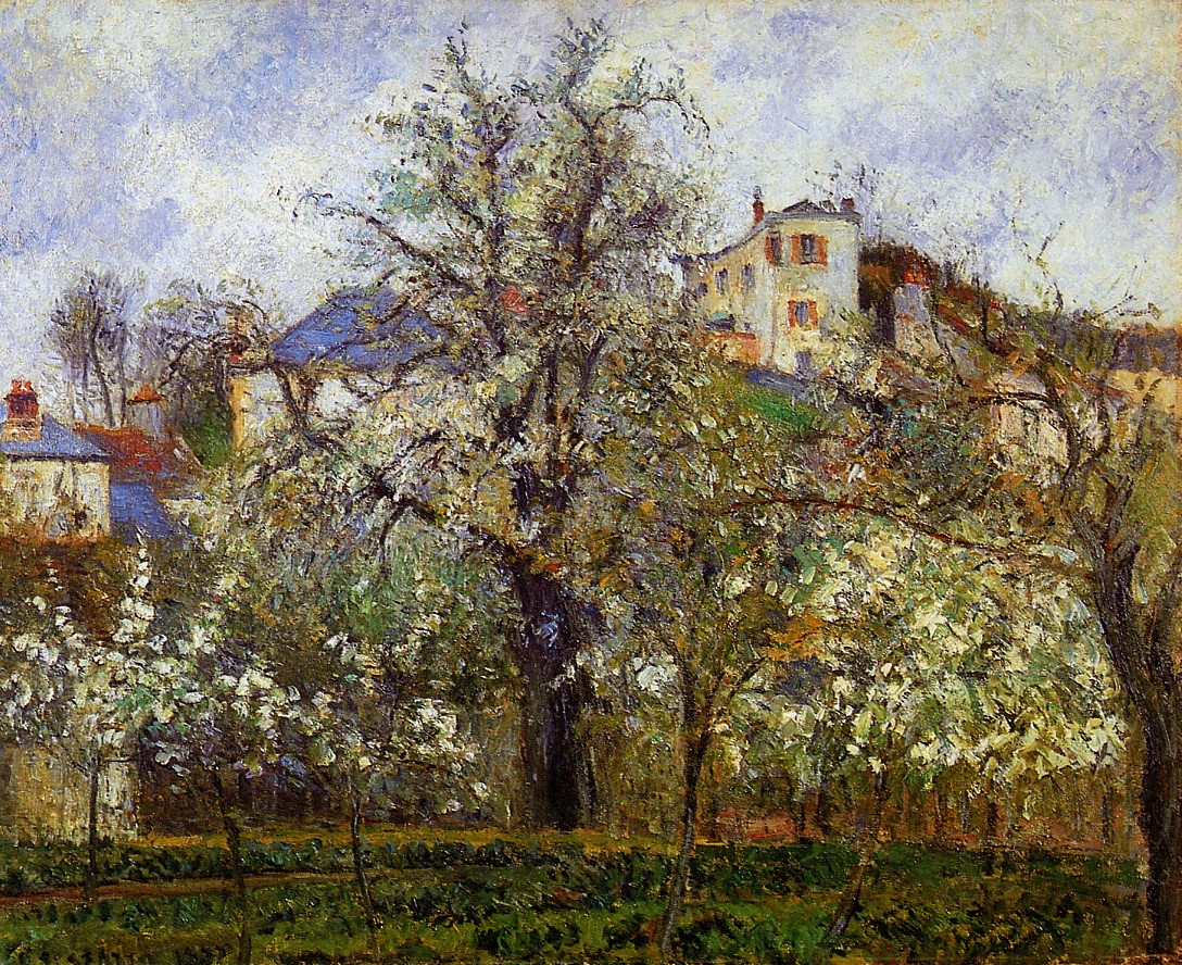 Super The Vegetable Garden With Trees In Blossom Spring Pontoise Download Free Architecture Designs Jebrpmadebymaigaardcom