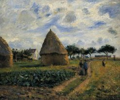 Peasants and Hay Stacks 1878 | Camille Pissarro | oil painting