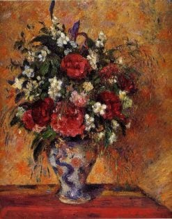 Vase of Flowers 1877 - 1878 | Camille Pissarro | oil painting