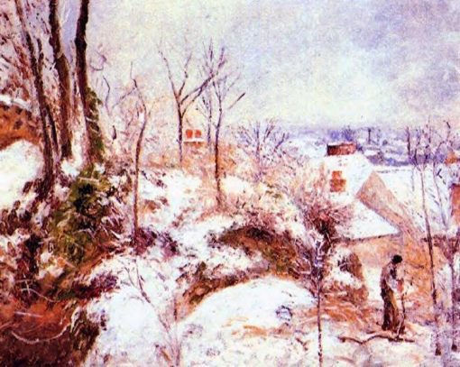 A Cottage in the Snow 1879 | Camille Pissarro | oil painting