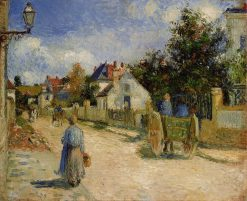 A Street in Pontoise 1879 | Camille Pissarro | oil painting