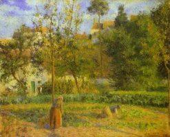 Vegetable Garden at Hermitage near Pontoise 1879 | Camille Pissarro | oil painting