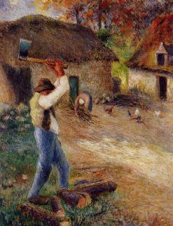 Pere Melon Cutting Wood 1880 | Camille Pissarro | oil painting