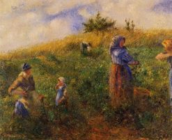 Picking Peas 1880 | Camille Pissarro | oil painting