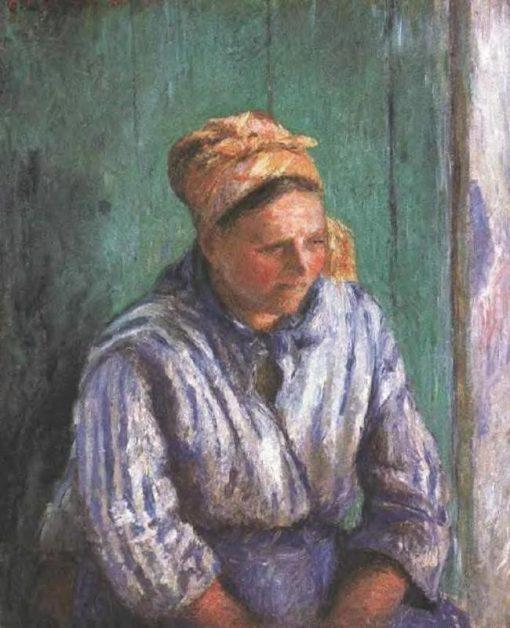Washerwoman Study (also known as La Mere Larcheveque) 1880   Camille Pissarro   oil painting