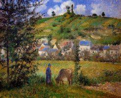 Chaponval Landscape 1880 | Camille Pissarro | oil painting