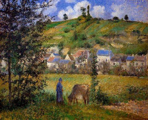 Chaponval Landscape 1880   Camille Pissarro   oil painting