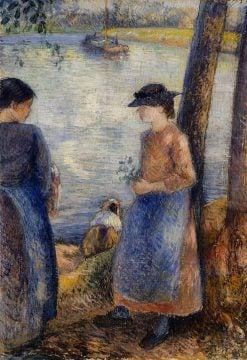 By the Water 1881 | Camille Pissarro | oil painting