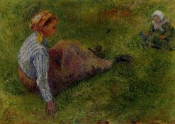 Peasant Sitting with Infant 1881 | Camille Pissarro | oil painting