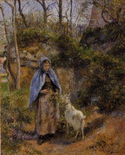 Peasant Woman with a Goat 1881 | Camille Pissarro | oil painting
