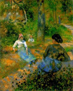 Peasants Resting 1881 | Camille Pissarro | oil painting