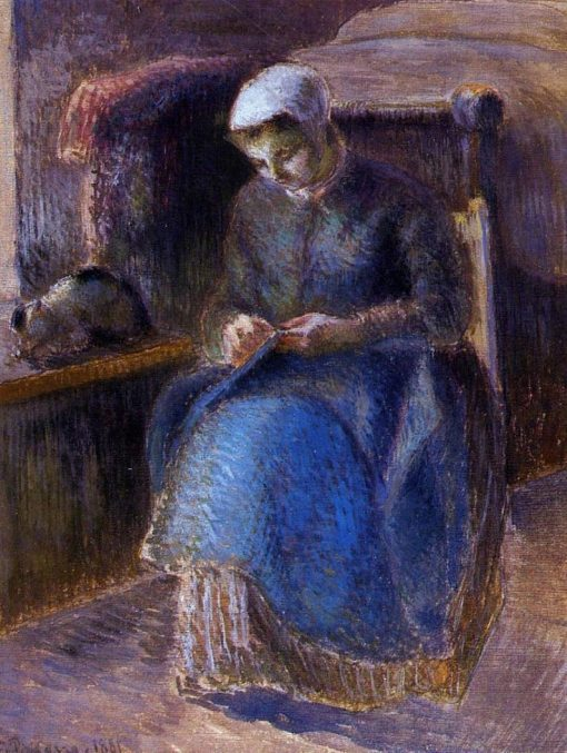 Woman Sewing 1881 | Camille Pissarro | oil painting