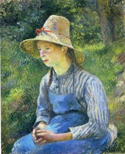 Young Peasant Girl Wearing a Hat 1881 | Camille Pissarro | oil painting