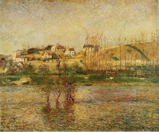 Flood in Pontoise 1882 | Camille Pissarro | oil painting