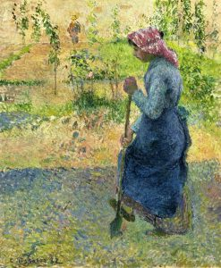Paysanne Couchant 1882 | Camille Pissarro | oil painting