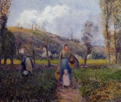 Peasant Woman and Child Harvesting the Fields