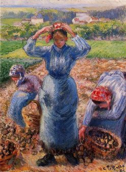 Peasants Harvesting Potatoes 1882 | Camille Pissarro | oil painting