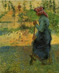 Study of a Peasant in Open Air (also known as Peasant Digging) 1882 | Camille Pissarro | oil painting
