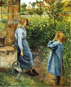 Young Woman and Child at the Well 1882 | Camille Pissarro | oil painting