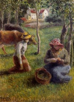Cowherd 1883 | Camille Pissarro | oil painting