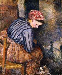 Peasant Woman Warming Herself 1883 | Camille Pissarro | oil painting