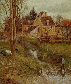 The Brook at Osny 1883 | Camille Pissarro | oil painting