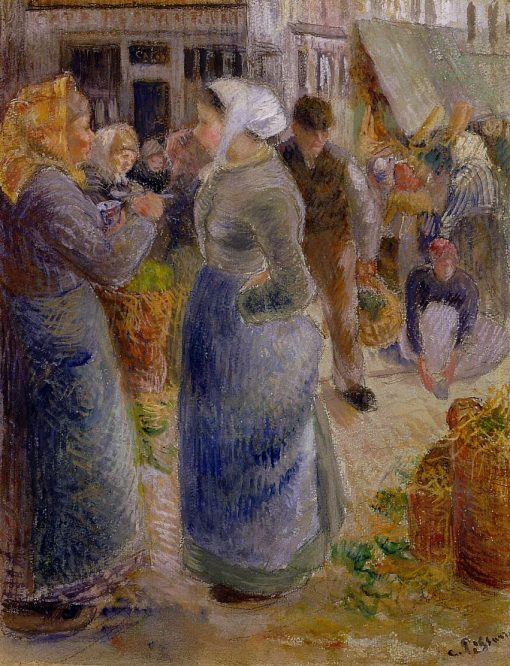 The Market 1883 | Camille Pissarro | oil painting