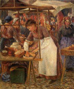 The Pork Butcher 1883 | Camille Pissarro | oil painting