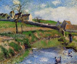 View of a Farm in Osny 1883 | Camille Pissarro | oil painting