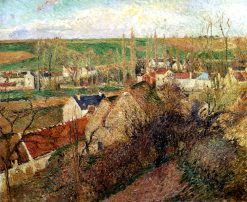 View of Osny near Pontoise 1883 | Camille Pissarro | oil painting
