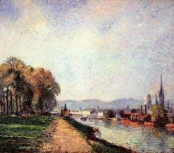View of Rouen 1883 | Camille Pissarro | oil painting