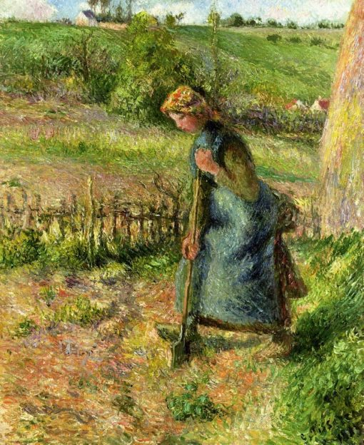 Woman Digging 1883 | Camille Pissarro | oil painting
